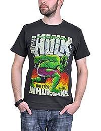 Marvel Comics - Hulk Herren T-Shirt - King Size (Steingrau) (S-XL)