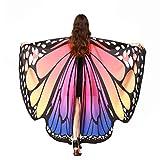 Malloom Frauen Schmetterling Flügel Schal Schals Damen Nymphe Pixie Poncho Kostüm Zubehör (Neu Rosa)