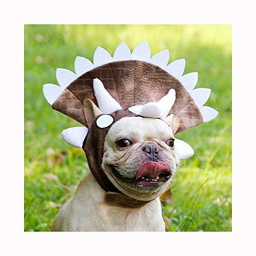 Triceratops Kostüm Katze - Triceratops Haustierhaube, Welpendinosaurierhut, Halloween Kostüm für Katze Hund, Halloween Lustiges Haustier Kostüm, Haustier Halloween Party Requisiten, Kleine Hunde Oder Welpen Weihnachten