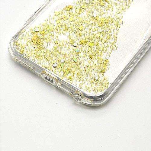 iPhone 8 Hülle,iPhone 7 Hülle, Vandot iPhone 8/7 4.7 Zoll Hülle TPU Case Schutzhülle Silikon Crystal Case Durchsichtig,Glänzend Glitzer Kristall Mädchen Fee TPU Silikon Schutz Handy Hülle Case Tasche  Fee-Klar Gold