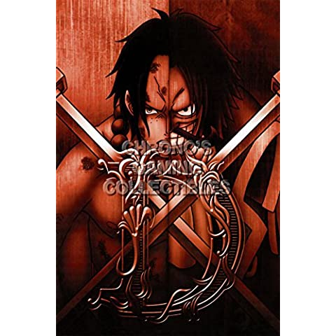CGC enorme–Póster de One Piece anime Póster Wan P? Su–portagas D Ace y dorado D Roger–one056, papel, 24