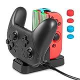 Nintendo Schalter Joy-Con Lade Ladestation, Keten 4 in 1 Ladest�nder f�r Nintendo Schalter Joy-Con und Pro Kontroller mit zus�tzlicher 6 in 1 Silikonh�lle und 1 USB Art-C Kabel medium image