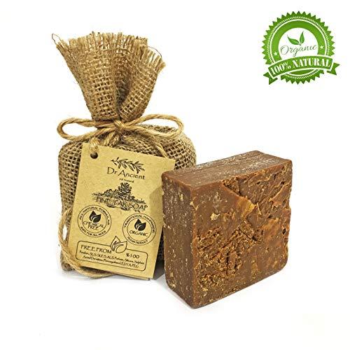 Organische natürliche vegane traditionelle handgemachte antike schwarze Kiefernteer Seife - Anti-Pilz, Akne gegen Ekzeme, juckende Haut und Cellulite - Keine Chemikalien, reine Naturseifen! (Akne-seife -)