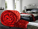 Famacart Double Bed Size Jaipuri Red Min...