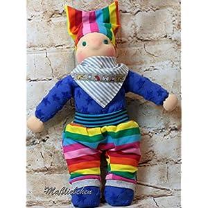 Regenbogenwichtel, Puppe, (Sommer) Anton, 34cm