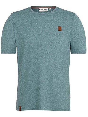 Naketano Male T-Shirt Italienischer Hengst VI forrest melange