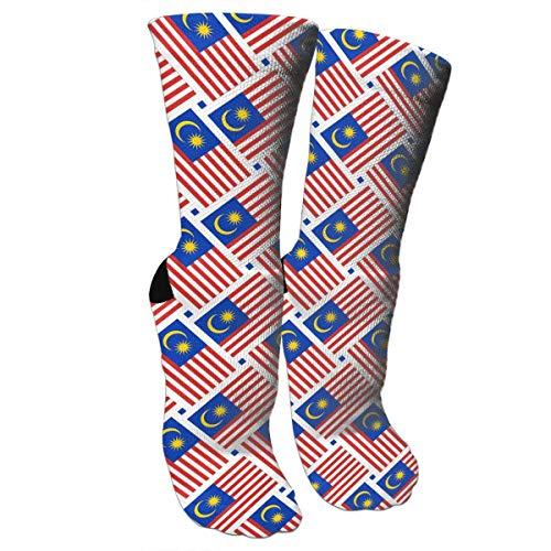 ouyjian Crazy Socks Malaysia Flag Weave 3D Crew Socks