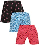 Global Rang Men's Cotton Boxers (Multicolour, Large) - Pack of 3