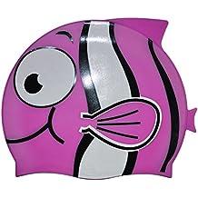 Cuffie Nuoto Silicone Bambino Asciugamano Capelli Turbante Elastica e  Adattabile Carina Forma di Pesce Pagliaccio Cuffia cca9a1aedb8f