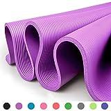 Glamexx24 XXL Fitnessmatte Yogamatte Pilatesmatte Gymnastikmatte EXTRA-dick und weich, ideal für Pilates, Gymnastik und Yoga Lila