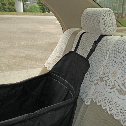 LAGUTE Auto Hundetransportbox Transportkorb Tiertragetasche Transporttasche Transportbox für Tier *Schwarz*