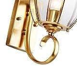 ZHAS Außen-Wandleuchte Garten Lampen wasserdicht Wand Lampe Balkon Wandleuchte Kupfer Wandleuchte Retro Wandleuchte Außenleuchte Kupfer Lampe Lampen Neue (Größe: 24 * 45 CM)
