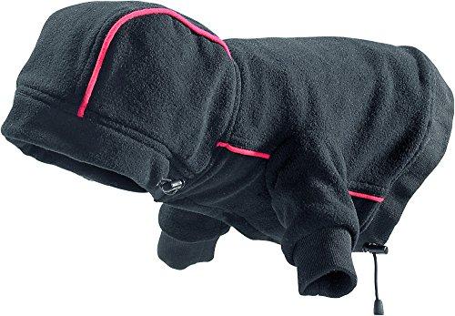 Hunter Hundemantel Leisure mit Kapuze, schwarz, Größe 40 - 2x ärmel Lange