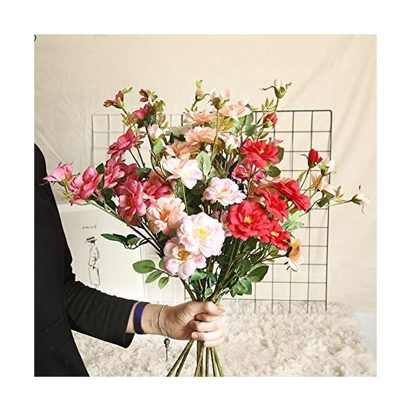 GSYClbf – 1 Flor Artificial Flexible para decoración de jardín, Fiestas, Bodas, Festivales, Manualidades, Color champán