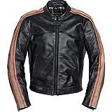 Spirit Motors Motorradjacke Motorradschutzjacke Retro-Style Lederjacke 2.0 orange XL