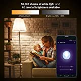 LE E27 Smart LED Birne, 9W Dimmbar, RGB + Warmweiß, 2700 Kelvin 850 Lumen Farbwechsel LED Leuchtmittel, Kompatibel mit Alexa (Echo, Echo Dot), Google Home und IFTTT Fernbedienung - 6