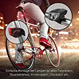 ANSMANN Fahrradlicht Set StVZO zugelassen - Akkubetrieben und aufladbar über USB, CREE LED, regensicher, einfache Montage, abnehmbar - Fahrradbeleuchtung bestehend aus Frontlicht & Rücklicht - 4