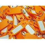 5/10/30/50/100/200/500/1000 Schlüsselschilder Schlüsselanhänger Farbe nach Wahl Top Qualität (orange, 100 St.)