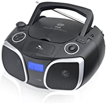 Sytech SY9956PL - Reproductor radio CD/MP3/USB, color plata