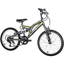 "F.lli Schiano Rider Shimano - Bicicleta Biamortiguada 18V para hombre, color anthracite / verde, 20"""