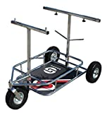 Senzo Chrom 3 Rad Kart Wagen Mit Schaumstoff Gefüllten Rädern & Extra Reifen Haltern