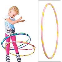 De colores para niños de Hula Hoop para pequeños profesionales, Ø70cm, Rosa-Amarillo
