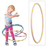Hoopomania Bunter Hula Hoop für Kleine Profis Kinder Hula Hoop Reifen, Pink-Gelb, Ø 60 cm, BKHH