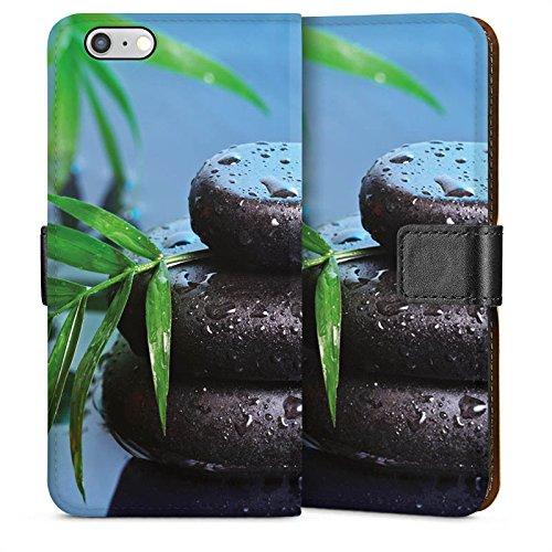Apple iPhone 5s Housse étui coque protection Pierres zen Eau Water Sideflip Sac