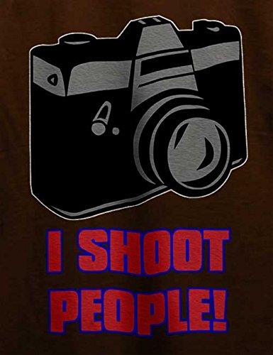 I Shoot People T-Shirt Braun