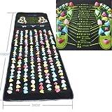 Yosoo 1,7m x0.35m Colored Reflexología Masaje para los pies Alfombrilla de pierna Masajeador Cuidado de la salud