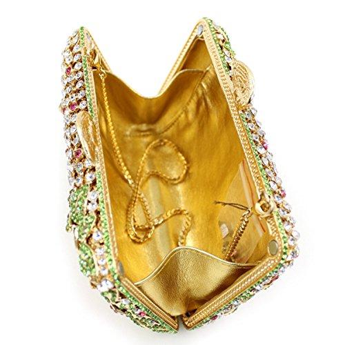High-end Sacchetto Della Maniglia Del Diamante Sera Sacchetto Del Pranzo Diamante Di Lusso Multicolored