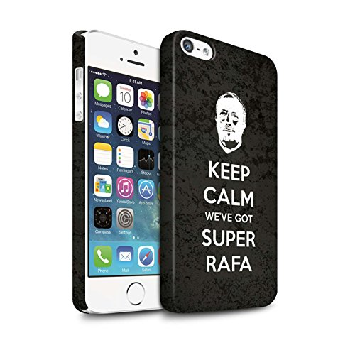 Offiziell Newcastle United FC Hülle / Matte Snap-On Case für Apple iPhone SE / Pack 8pcs Muster / NUFC Rafa Benítez Kollektion Ruhig Bleiben
