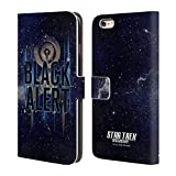 Head Case Designs Offizielle Star Trek Discovery Black Alert U.S.S Discovery NCC - 1031 Brieftasche Handyhülle aus Leder für iPhone 6 Plus/iPhone 6s Plus
