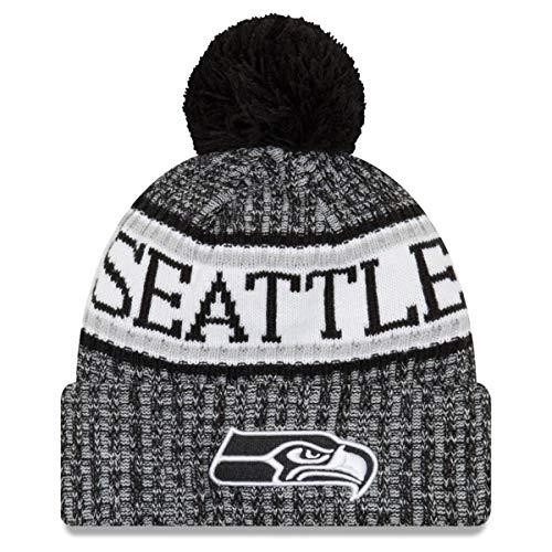 New Era NFL Sideline 2018 Bobble Mütze Seattle Seahawks