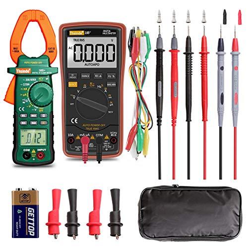 Digital Multimeter Auto-Range 6000Counts Strommessgerät Voltmeter Ohmmeter Amperemeter, Außenleiter-Identifizierung, True RMS, Durchgangsprüfung, für professionelle Anwender