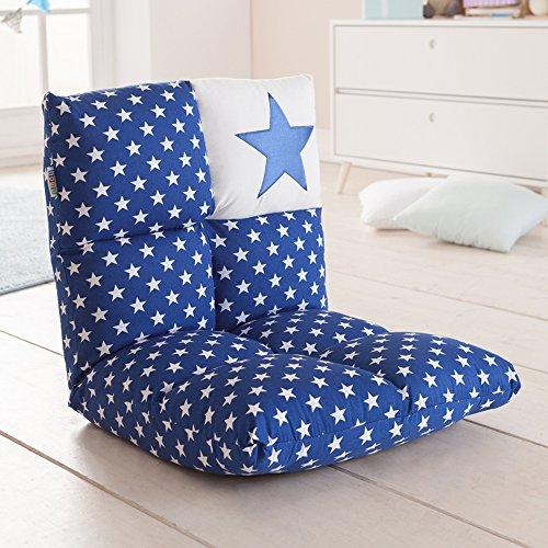 Howa 2 in 1 poltrona + divano per bambini – schienale regolabile in 6 posizioni - blu 8600