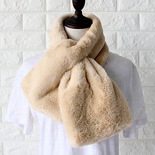 Mode pour femmes foulard foulard d'hiver de couleur solide souple et rembourré chaud confort Beige