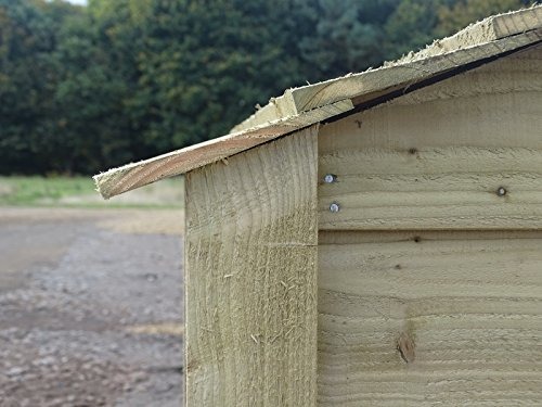 Arbor Garden Solutions Wooden Log Store 6Ft Extra Large (4.9 cubic meters capacity) (W-335cm, H-180cm, D-81cm) (Light Green (Natural))