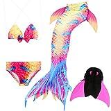 Das beste Mädchen Bikini Badeanzüge Schönere Meerjungfrauenschwanz Zum Schwimmen mit Meerjungfrau Flosse Schwimmen Kostüm Schwanzflosse - Ein Mädchentraum- Gr. 130, Farbe: A08(2)