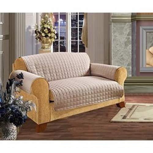Elegance Linen ELEGANCE Bettwäsche Gesteppt Pet Hund Kinder Kids Möbelschutz Mikrofaser Slip Cover Sofa, natur