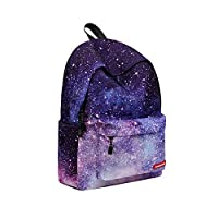Warooma Student Galaxy Backpack Travel Bags Laptop Travel Daypack Cute Bookbag with Pencil Bag Unisex Rucksack Bag Shoulder Backpack for Kids Teens Students