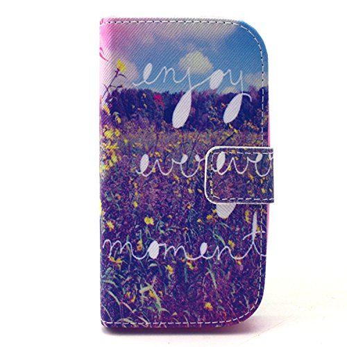 OFKP® PU Kunstlederhülle Schale Cover Etui Skin für Samsung Galaxy Ace Style SM-G310 mit praktischer Ständerfunktion Schicker und praktischer Schutz(Teil 9)