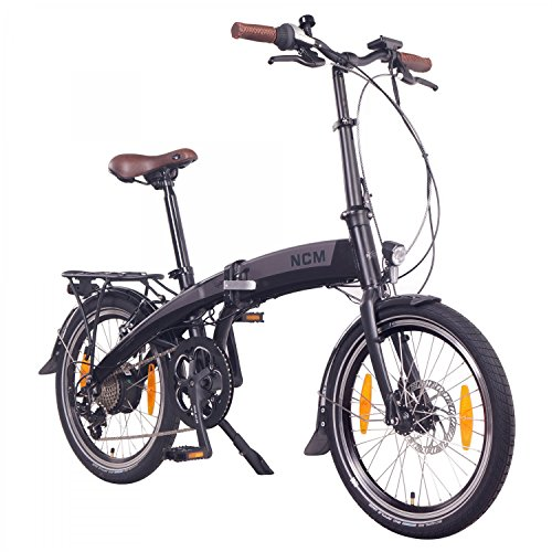 "NCM Lyon 36V, 20"" Zoll E-Faltrad, Klapprad, E-Bike, Pedelec, Elektrofahrrad, 250W Bafang Heckmotor, 8Ah 288Wh Li-Ion Rahmenakku mit PANASONIC Zellen, weiß/matt weiß/anthrazit (20"" Anthrazit)"