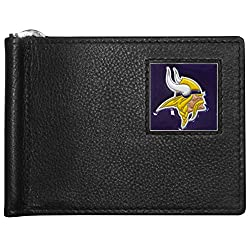 NFL Minnesota Vikings Leather Bill Clip Wallet