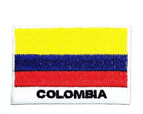 Kostüm Kolumbien - HHO Kolumbien Länderflagge Patch Nationalflagge Patch bestickt DIY Patches Aufnähen Aufnäher Aufbügeln für Taschen Jacken Jeans Kleidung Patch Jacke T-Shirt Aufbügeln Kostüm