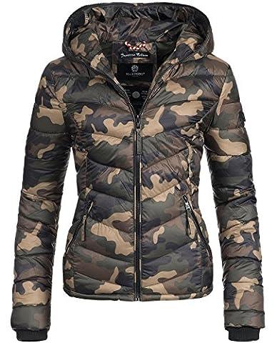 Marikoo Damen Jacke Übergangsjacke Steppjacke Kuala (vegan hergestellt) Camouflage Gr. S