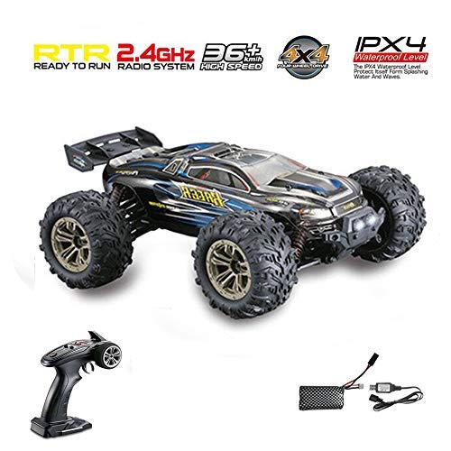 Fernbedienung Steuerung Auto Offroad Fahrzeug RC LKW Buggy 2,4 GHz Maßstab 1:16 4WD 36 + km/h Wasserdicht Niveau IPX4 RC Auto zum Kinder und Erwachsene passen zum alle Terrain