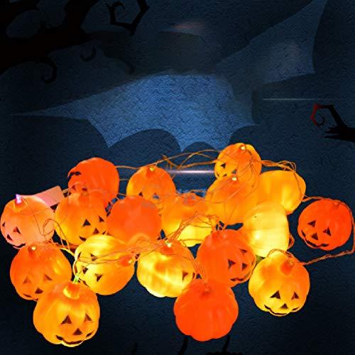 ister Schädel Lampe String Kürbis String Lampe Ornament Farbige Kronleuchter Im Freien Blitzlicht String Ghost Light,C ()