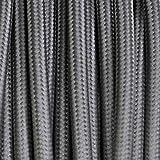 Cable eléctrico redondo revestido de tela de color gris oscuro, 3x 0,75 mm,para arañas,...