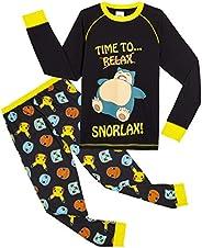 Pokèmon Pijama Niño Diseño con Snorlax   Pijama Infantil Invierno   Pijama Manga Larga Niño De Pikachu   Pijam